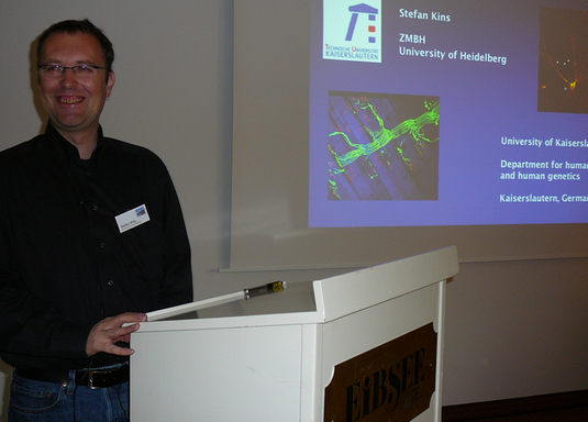 "Stefan Kins (University of Heidelberg, Germany) is talking about: ""Subcellular traffic of APP family members in neurons"""