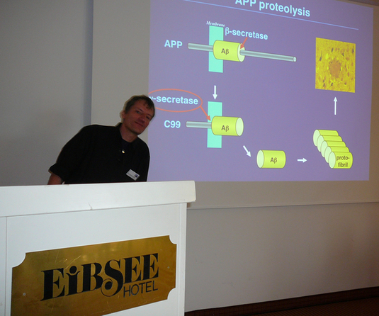 "Christoph Kaether (Leibniz Institute for Age Research, Jena, Germany) is talking about: ""Quality control of gamma-secretase assembly in the ER"""