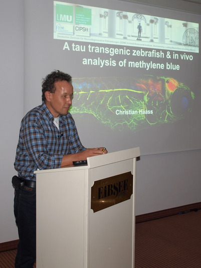 Christian Haass; Talk of Bettina Schmid: In vivo analysis of methylen blue and kinase inhibitors in a tau transgenic zebrafish
