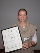 Melanie Meyer-Luehmann, winner of the Hans and Ilse Breuer Alzheimer Research Award 2010