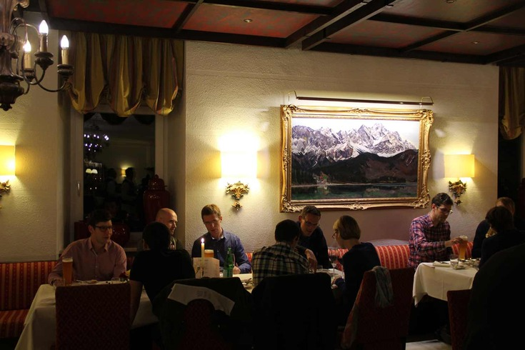 Dinner at the Eibsee Restaurant